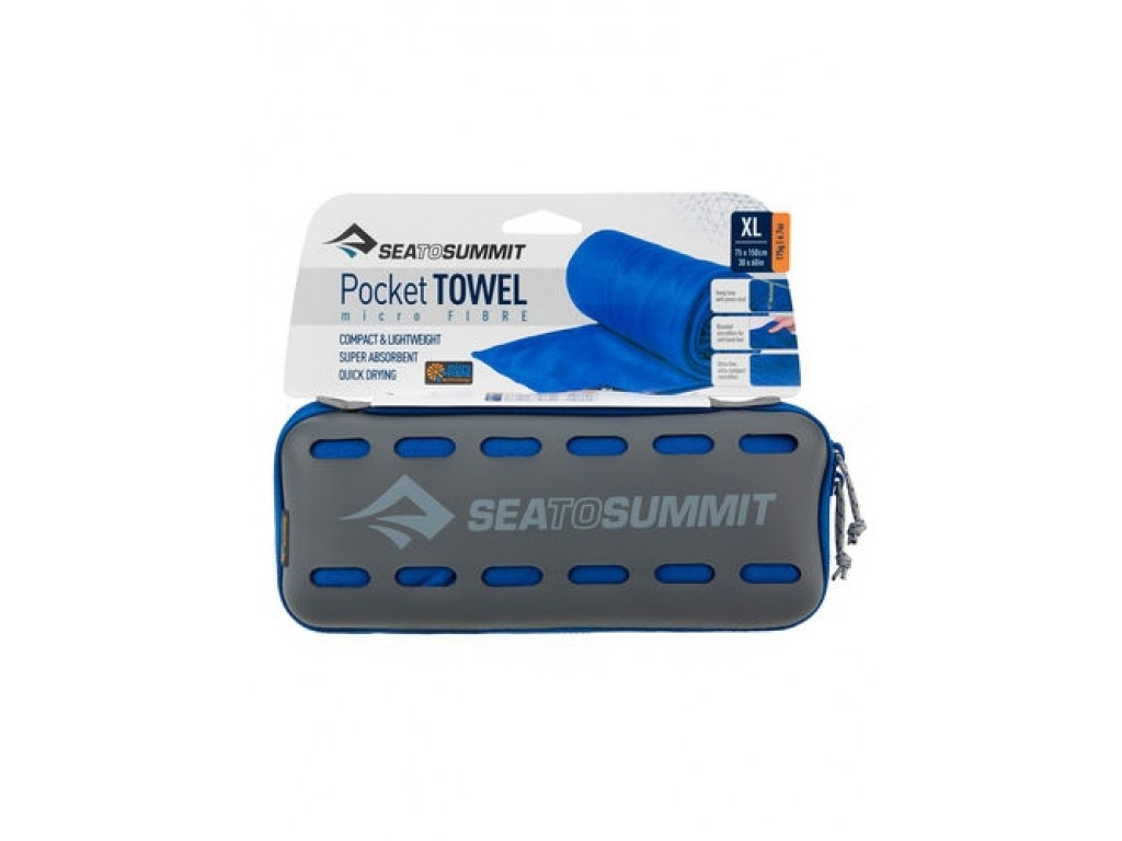 SEA TO SUMMIT POCKET TOWEL XL 75X150CM COBALT BLUE