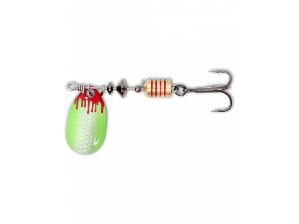 Magic Trout 3,8 G 2,5CM SILVER/GREEN BLOODY SPINNER