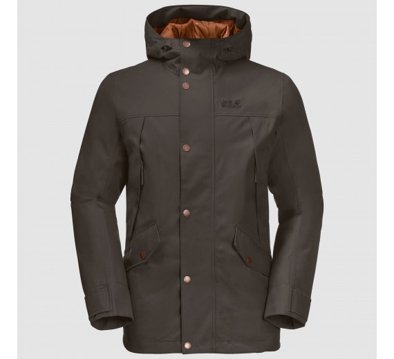 Jack Wolfskin Clifton Hill Jacket, M, brownstone