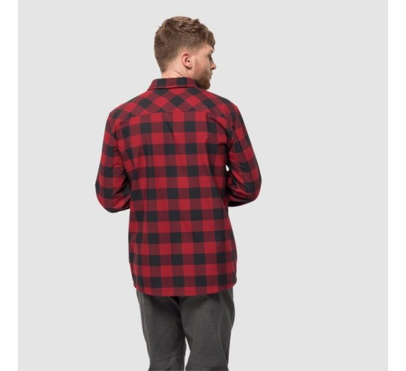 Jack Wolfskin Red River Shirt, M, red lacquer checks-03