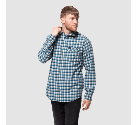 Jack Wolfskin River Town Shirt, M, night blue checks-03