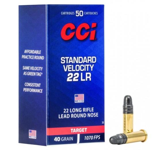 CCI 22LR. STANDARD 40GR LRN ÆSKE A 50 STK.