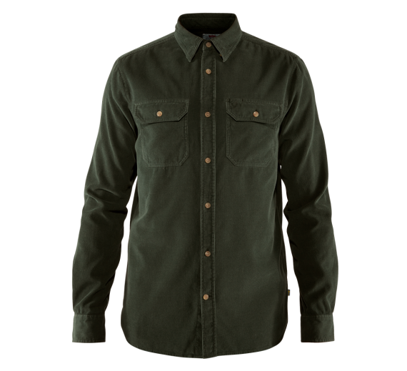 Fjällräven Övik Cord Shirt M Deep Forest