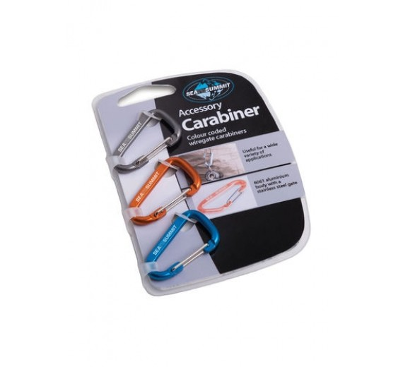 SEA TO SUMMIT ACCESSORY CARABINER SET 3PCS MIXED