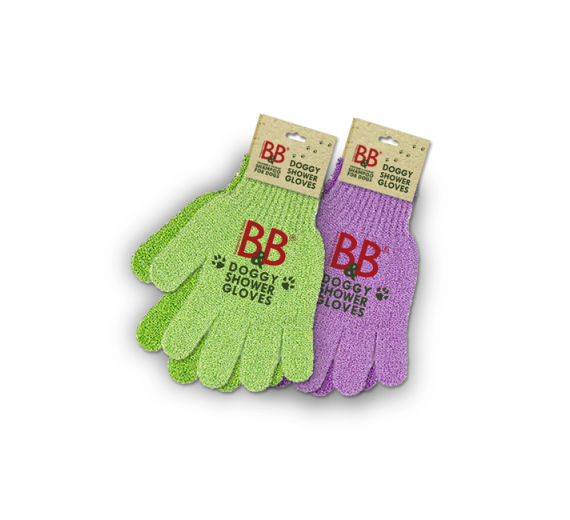 B&B DOGGY SHOWER GLOVES LILLA