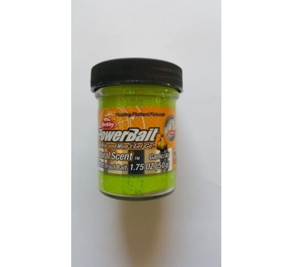 Berkley POWERBAIT Glitter Natural Scent Garlic Chartreuse