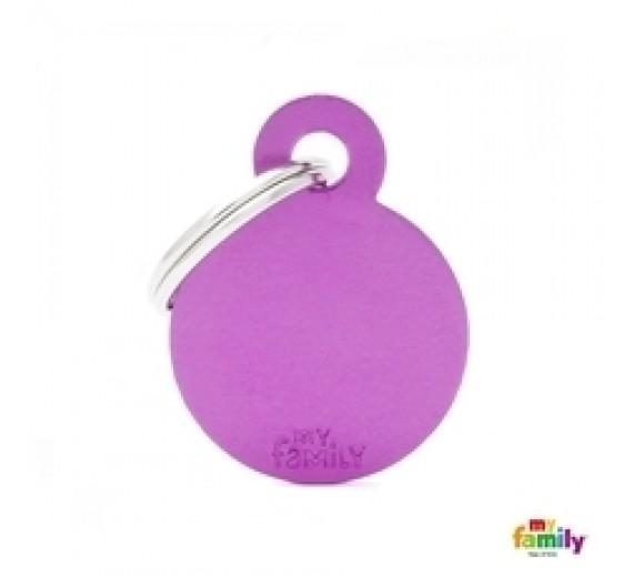 My Family HUNDETEGN LILLE RUND mat purple