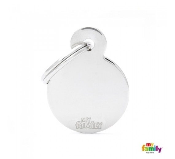 My family SMALL ROUND CHROME PLATED steel
