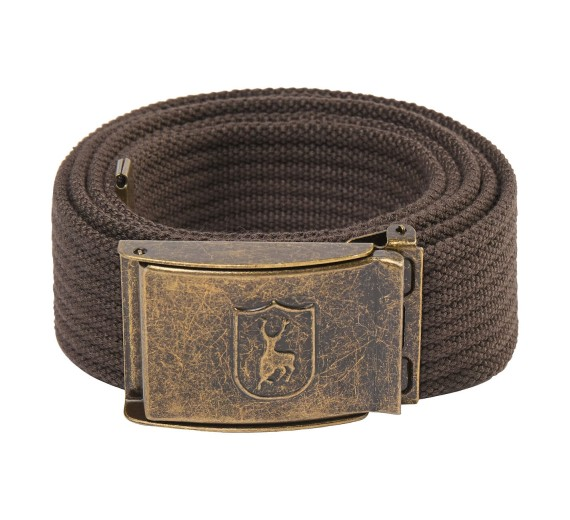 Deerhunter CANVAS BELT m/stretch 130cm, otterbrown