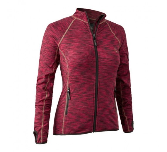 DEERHUNTER DAME INSULATED FLEECE RED MELANGE