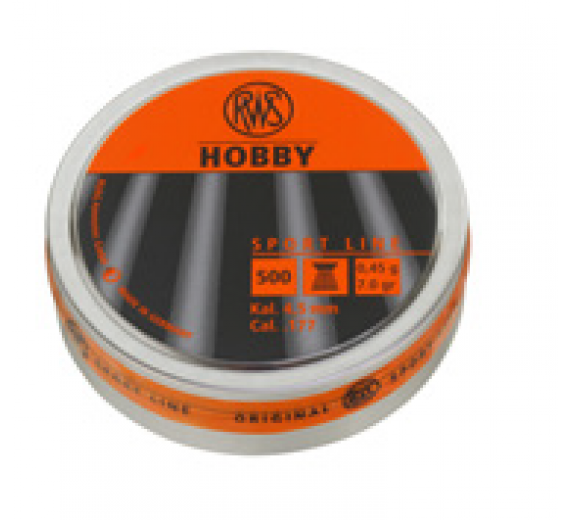 RWS HOBBY KUGLEN RIFLET 5,5MM 0,77G 500 STK.