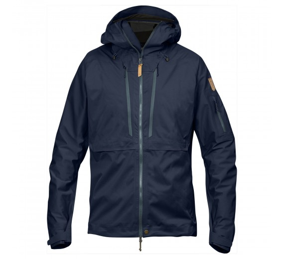 FJÄLLRÄVEN KEB ECO-SHELL JACKET M DARK NAVY