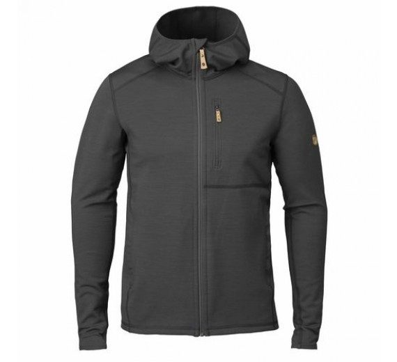 FJÄLLRÄVEN KEB FLEECE HOODIE M GREY/BLACK