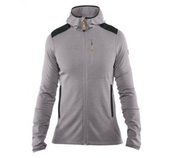 FJÄLLRÄVEN KEB FLEECE HOODIE M GREY DARK GREY