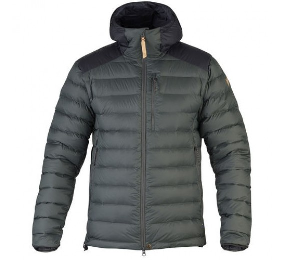 FJÄLLRÄVEN TOURING DOWN JACKET STONE/GREY BLACK