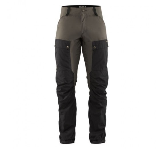 FJÄLLRÄVEN KEB TROUSERS M REGULAR BLACK/STONE GREY