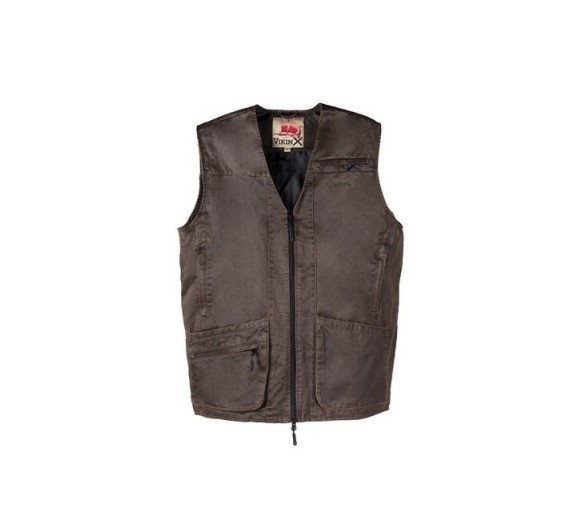 VikinX KNUD VEST FAKE SKIN brown