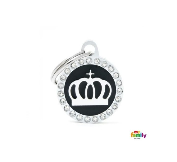 My Family SMALL CIRCLE CROWN GLAM black