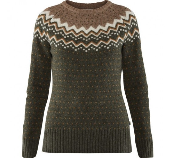 FJÄLLRÄVEN ÖVIK KNIT SWEATER W DEEP FOREST