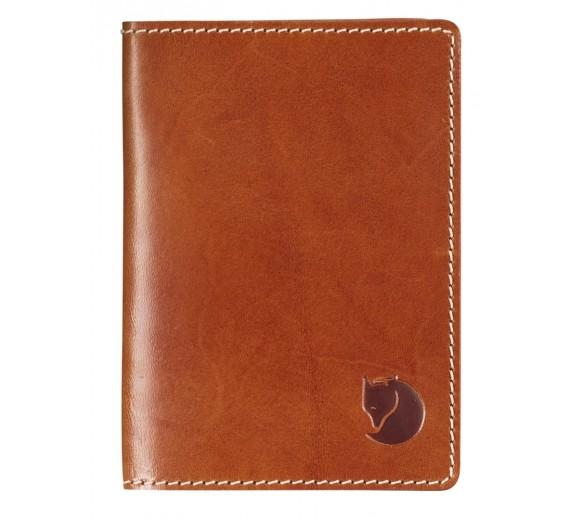 Fjällräven Leather Passport Cover, cognac
