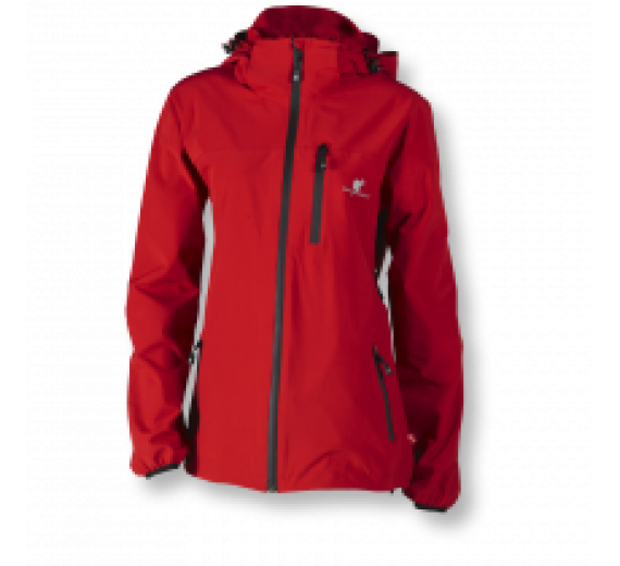 Wolf Camper Rainforest rainjacket red size large