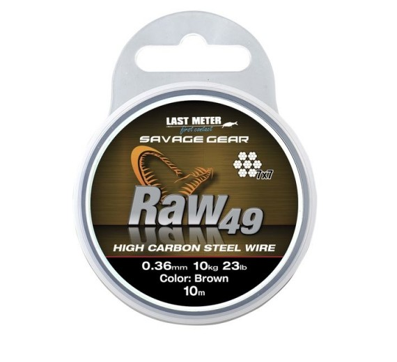 Savage gear RAW49 0,36 11KG 24LB UNCOATED BROWN 10M