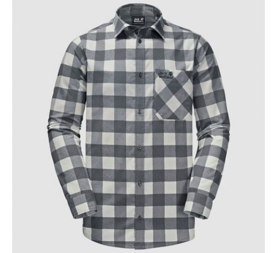 JACK WOLFSKIN RED RIVER SHIRT EBONY CHECKS