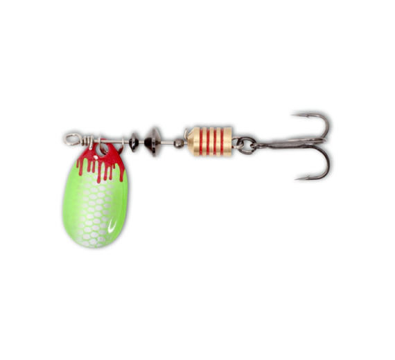 Magic Trout 3,6G 2,5CM SILVER/GREEN BLOODY SPINNER