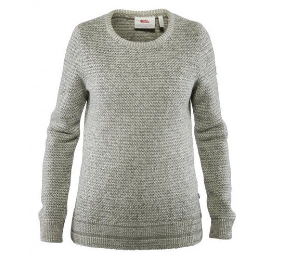 FJÄLLRÄVEN STRUCTURE SWEATER W EGG SHELL-GREY