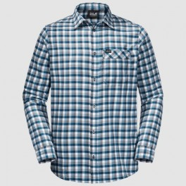 JackWolfskinRiverTownShirtMnightbluechecks-20