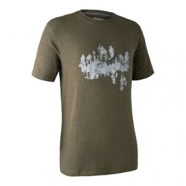 DEERHUNTER CEDER T-SHIRT GREEN MELANGE-20