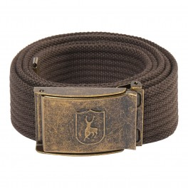 Deerhunter CANVAS BELT m/stretch 130cm, otterbrown-20