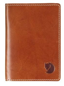 Fjällräven Leather Passport Cover, cognac-20