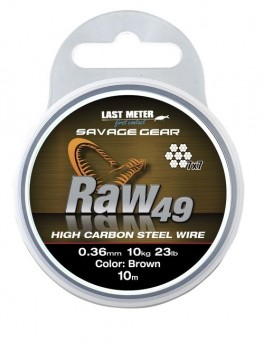 Savage gear RAW49 0,36 11KG 24LB UNCOATED BROWN 10M-20