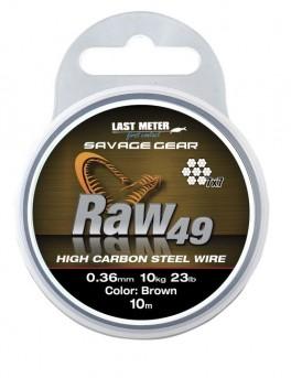 SavagegearRAW4904516KG35LBUNCOATEDBROWN10M-20